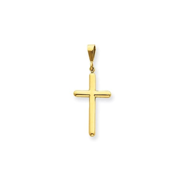 861d0cac0b0405 Shop 14k Yellow Gold Cross Pendant - Free Shipping Today - Overstock -  13989156