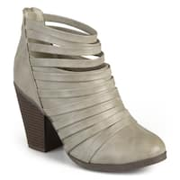 Journee Collection Women's 'Arial' Chunky Heel Strappy Booties