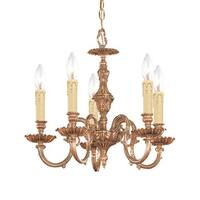 Crystorama Novella Collection 5-light Olde Brass Mini Chandelier