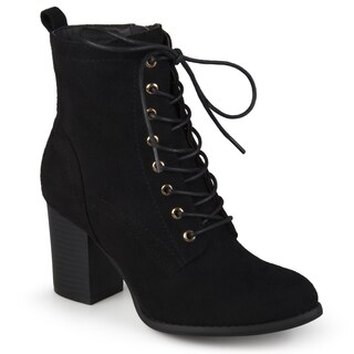 Journee Collection Women's 'Baylor' Stacked Heel Lace-up Booties (More options available)