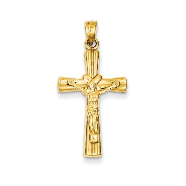 8bde123c12eb1a Shop 14K Gold Reversible Cross Pendant - Free Shipping Today - Overstock -  13989384