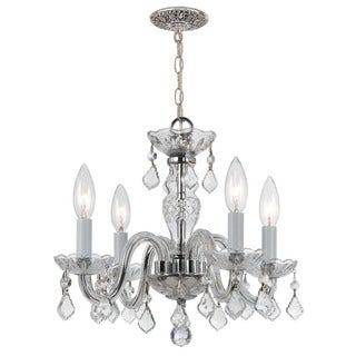 Crystorama Traditional Crystal Collection 4-light Polished Chrome/Crystal Mini Chandelier