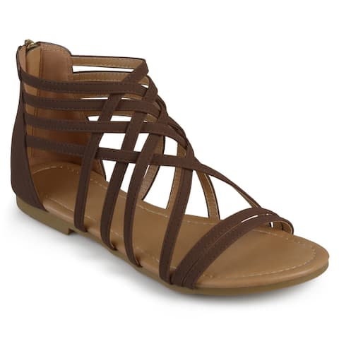 bc114366e802 Journee Collection Women s  Hanni  Flat Gladiator Sandals