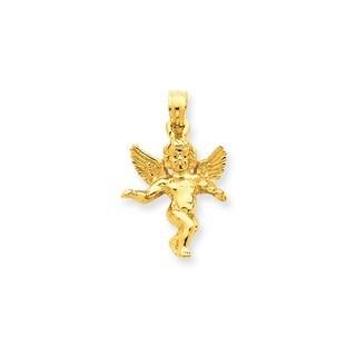 14k Gold Guardian Angel Pendant