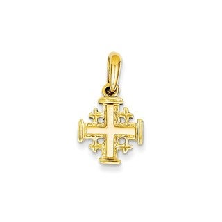 14k Yellow Gold Jerusalem Cross Charm