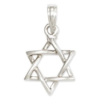 14k Yellow or White Gold 3-D Star of David Pendant