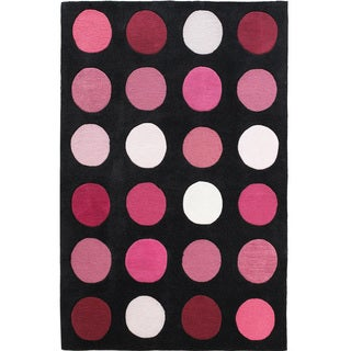"""Hand Tufted Trio Collection Paintbox Pink Polyester Rug (1'10"""" X 2'10"""")"""