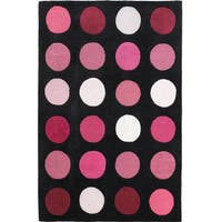 "Hand Tufted Trio Collection Paintbox Pink Polyester Rug (1'10"" X 2'10"")"