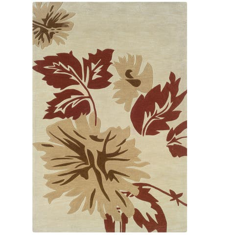 Hand Tufted Trio Fall Polyester Rug