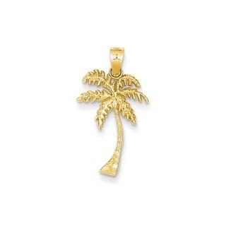 14k Yellow Gold Mini Palm Tree Pendant