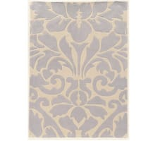 """Hand Tufted TRIO Damask Ivory Grey Polyester Rug (1'10"""" X 2'10"""")"""