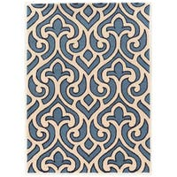"""Hand Tufted TRIO Loken Blue Polyester Rug (1'10"""" X 2'10"""")"""