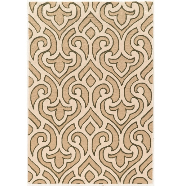 "Hand Tufted TRIO Loken GoldPolyester Rug (1'10"" X 2'10"")"