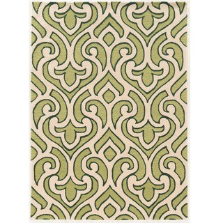 """Hand Tufted TRIO Loken Green Polyester Rug (1'10"""" X 2'10"""")"""