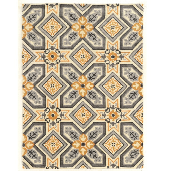 Hand Tufted TRIO Mosaic Polyester Rug