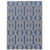 "Hand Tufted TRIO Silo Blue Polyester Rug (1'10"" X 2'10"")"