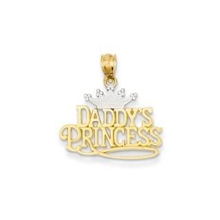 14k Yellow Gold and Rhodium Daddy's Princess Pendant