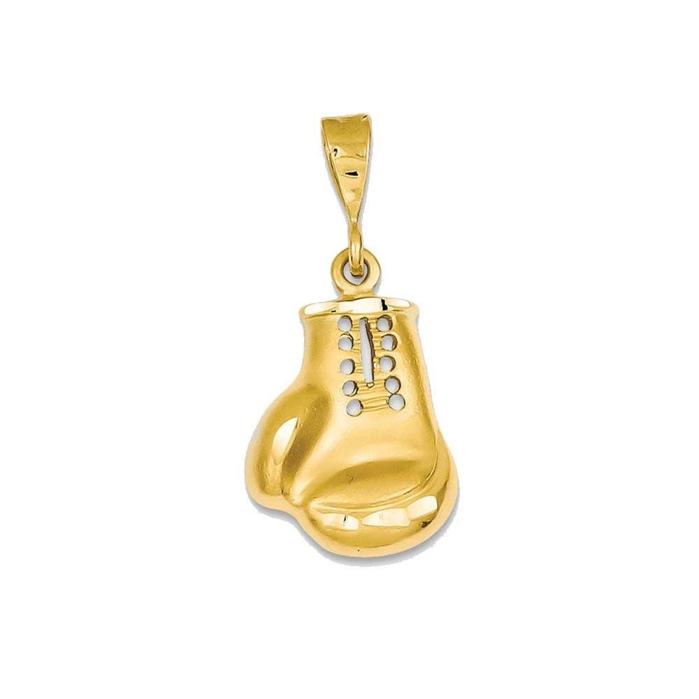 14k Yellow Gold Boxing Glove Charm (Yellow), Women's, Siz...