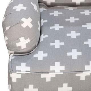 Skyline Furniture Kid's Accent Chair in Swiss Cross