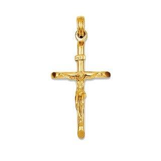 INRI 14k Yellow Gold Crucifix Pendant