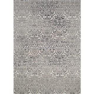 Couristan Patina Black/Grey Polypropylene-blend Rug (2' x 3'11)