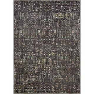 Couristan Patina Persian Cypress/Burnt Kindling Polypropylene Blend Area Rug (3'11 x 5'6)