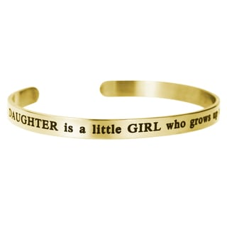Qina C. A Daughter Is a Little Girl Who Grows up to Be a Friend Adjustable Cuff Bracelet Wristband Bangle