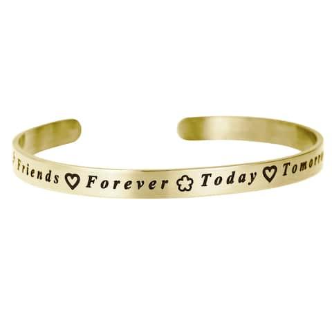 Qina C. Friends Forever Adjustable Cuff Bracelet Wristband Bangle