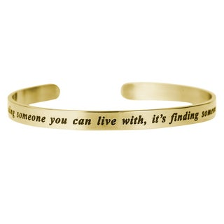 Qina C. 'Finding Someone You Can't Live Without' Adjustable Cuff Bracelet Wristband Bangle