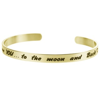 Qina C. 'To the Moon and Back' Adjustable Cuff Bracelet Wristband Bangle