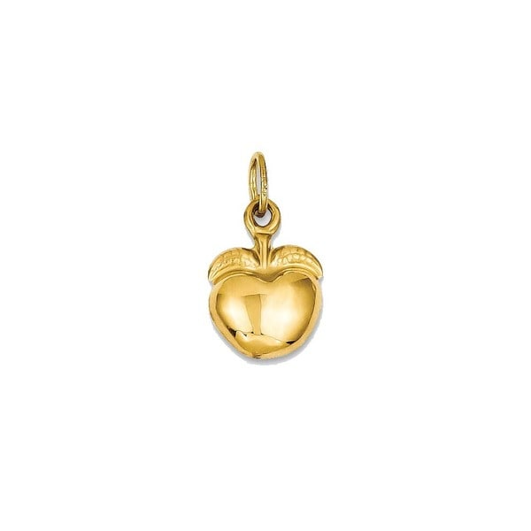 14k yellow gold apple charm free shipping today overstock 20614322 14k yellow gold apple charm aloadofball Gallery