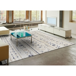 Couristan Bromley Novia/ Ivory-caramel-clack, Power-loomed Wool/ Courtron Polypropylene/ Polyester Blend Rug (2' x 3'11)