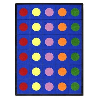 Joy Carpets Kid Essentials Multicolored 'Lots of Dots' Indoor Rug (10'9 x 13'2)