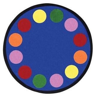 Joy Carpets Kid Essentials Multicolored 'Lots of Dots' Rug
