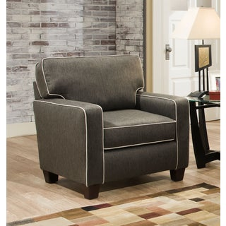 Chloe Charcoal Chair With Contrasting Welt