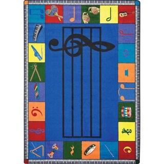Joy Carpets Kid Essentials 'Note Worthy' Multicolored Rectangular Rug (5'4 x 7'8)