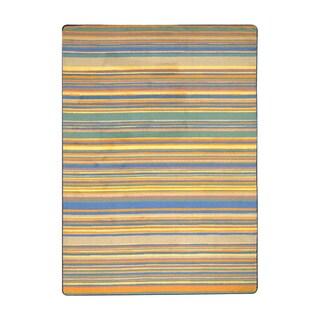 Joy Carpets Kid Essentials Multicolored Nylon Rectangle Area Rug (5'4 x 7'8)
