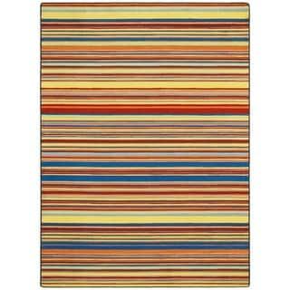 Joy Carpets Kid Essentials Latitude Aztec Multicolored Nylon Rectangular Area Rug (5'4 x 7'8)