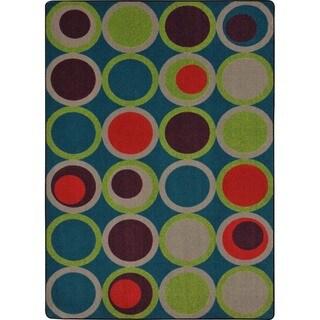 Joy Carpets Kid Essentials Tropics Rectangle Teen Circle Back Area Rug (10'9 x 13'2)