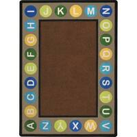 "Joy Carpets Kid Essentials Multicolored Nylon Rectangle Alphabet Rug - 10'9"" x 13'2"""