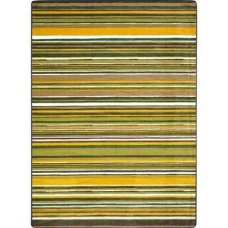 Joy Carpets Kid Latitude Rainforest Multicolored Nylon Rectangular Area Rug (5'4 x 7'8)