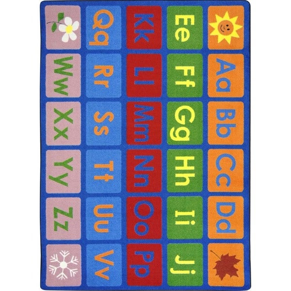 "Joy Carpets Kid Essentials Multi-color Language and Literacy LenguaLink (Spanish) Carpet (10'9 x 13'2) - Multi - 10'9"" x 13'2"""