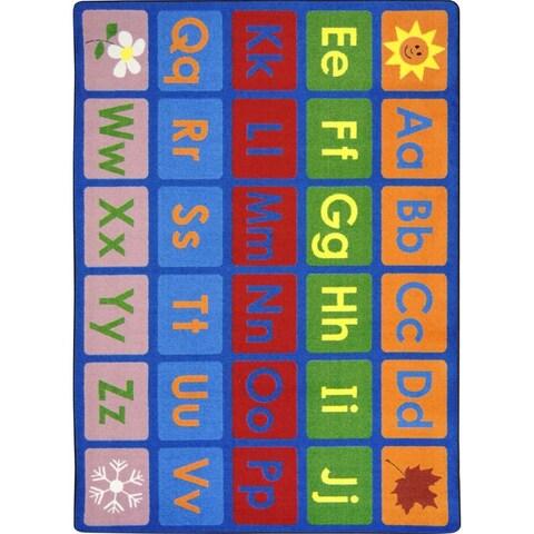 Joy Carpets Kid Essentials Multi-color Language and Literacy LenguaLink (Spanish) Carpet (10'9 x 13'2) - multi