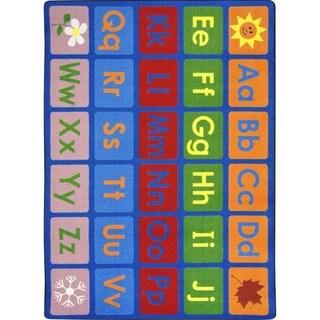 Joy Carpets Kid Essentials Multi-color Language and Literacy LenguaLink (Spanish) Carpet (10'9 x 13'2)