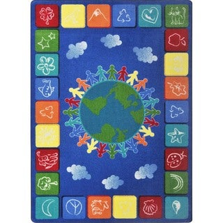 Joy Carpets Kid Essentials One World Rug (5'4 x 7'8)