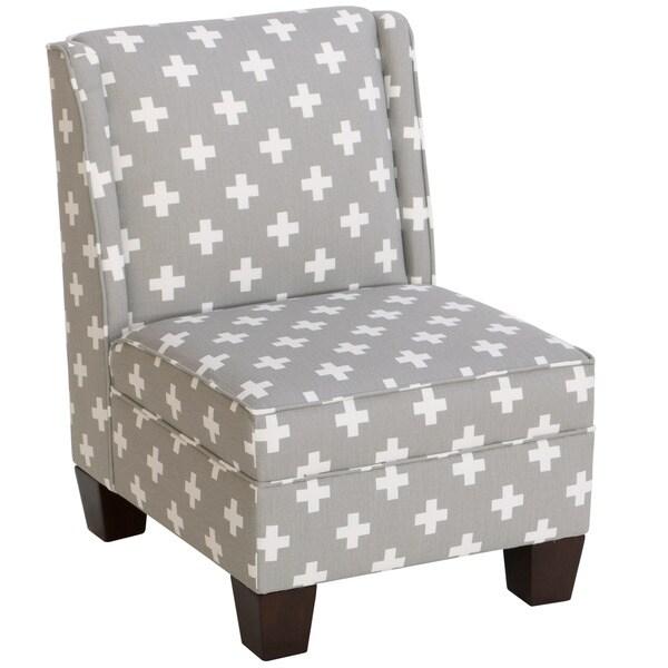 Shop Skyline Furniture Kid S Wingback Chair In Swiss Cross