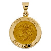 Shop 14k Gold Saint Michael Charm Free Shipping Today Overstock