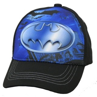 DC Comics Boys' Batman 3-D Pop Black Baseball Cap