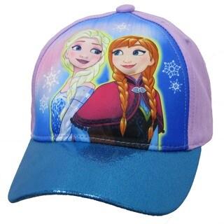 Disney Girl's Purple Cotton Frozen Anna Elsa 3D Pop Baseball Cap