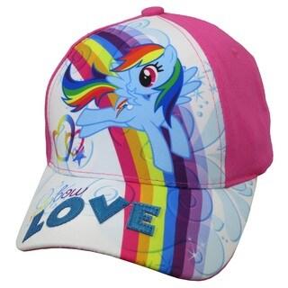 My Little Pony Girls' Rainbow Dash Size 4 to 14 Baseball Cap|https://ak1.ostkcdn.com/images/products/13990645/P20614693.jpg?_ostk_perf_=percv&impolicy=medium